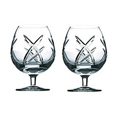 John Rocha at Waterford Crystal - Set of two 'Signature' 24% lead crystal brandy glasses