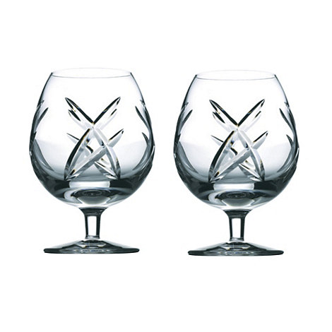 John Rocha at Waterford Crystal - Set of two +Signature+ 24% lead crystal brandy glasses