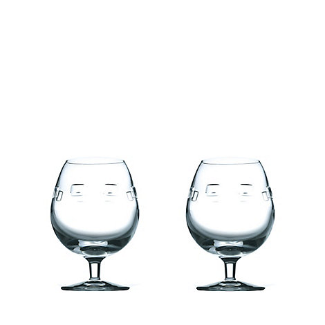 John Rocha at Waterford Crystal - Set of two +Geo+ 24% lead crystal brandy glasses