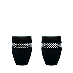 John Rocha at Waterford Crystal - Pair of 'Black' 24% lead crystal tumblers