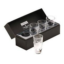 John Rocha at Waterford Crystal - Set of four 'Geo' 24% lead crystal shot glasses