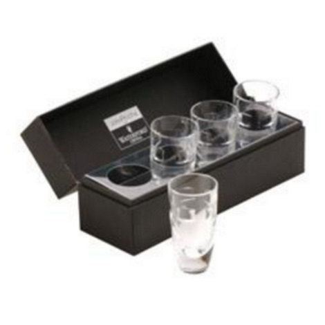 John Rocha at Waterford Crystal - Set of four +Geo+ 24% lead crystal shot glasses