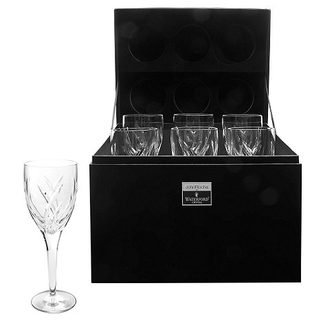 John Rocha at Waterford Crystal - Set of six +Signature+ 24% lead crystal red wine glasses