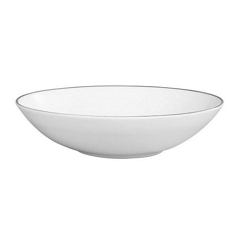 Jasper Conran at Wedgwood - White +Platinum+ pasta bowl - 25cm