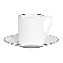 Jasper Conran at Wedgwood - White 'Platinum' espresso saucer