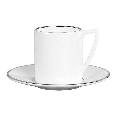 Jasper Conran at Wedgwood - White +Platinum+ espresso saucer