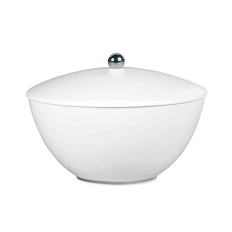 Jasper Conran at Wedgwood - White +Platinum+ covered vegetable dish
