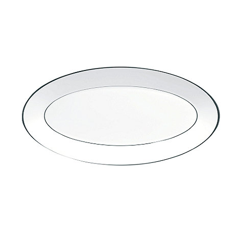 Jasper Conran at Wedgwood - White +Platinum+ oval dish - 30.5cm