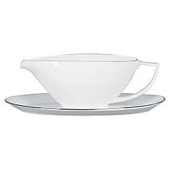 Jasper Conran at Wedgwood - White 'Platinum' sauce boat