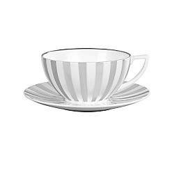 Jasper Conran at Wedgwood - Striped 'Platinum' tea cup