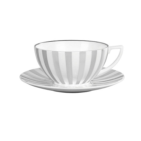 Jasper Conran at Wedgwood - Striped +Platinum+ tea cup