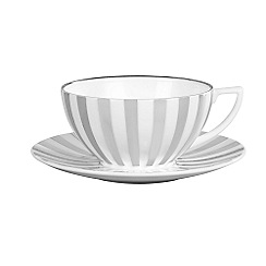 Jasper Conran at Wedgwood - Striped 'Platinum' tea saucer