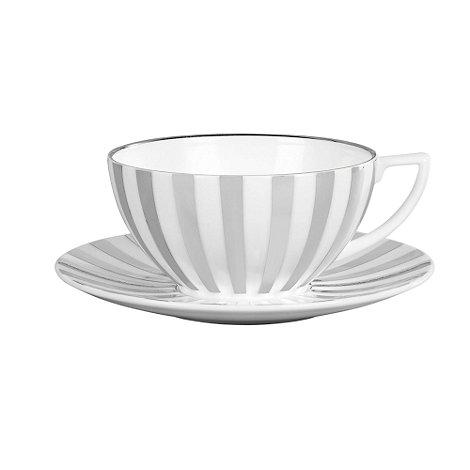 Jasper Conran at Wedgwood - Striped +Platinum+ tea saucer