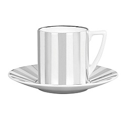 Jasper Conran at Wedgwood - Striped 'Platinum' espresso cup