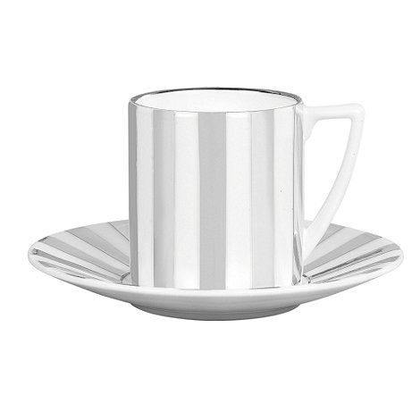 Jasper Conran at Wedgwood - Striped +Platinum+ espresso cup