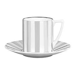 Jasper Conran at Wedgwood - Striped 'Platinum' espresso saucer