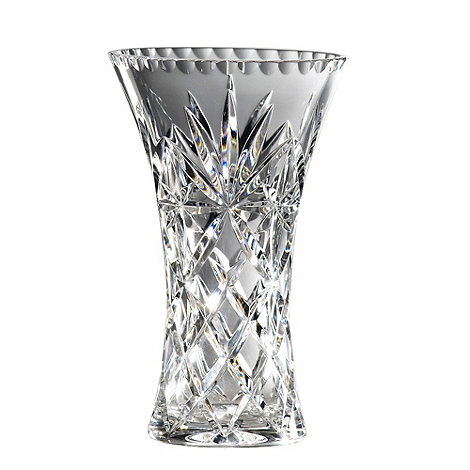 Royal Doulton - Small 24% lead crystal +Newbury+ hollow sided vase