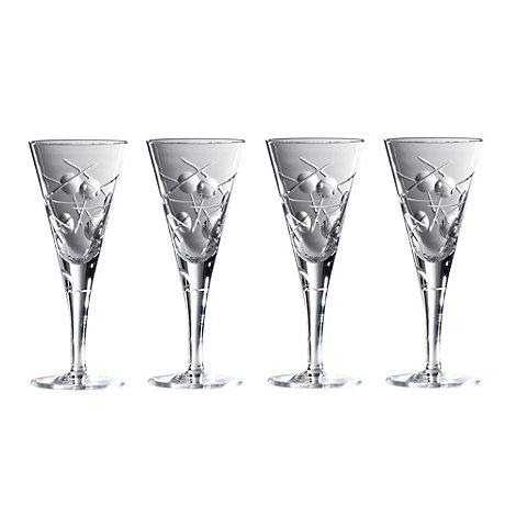 Royal Doulton - Set of 4 lead crystal +Lunar+ goblets