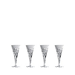 Royal Doulton - Box of four 'Lunar' 24% lead crystal small wine glasses