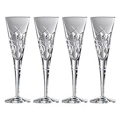 Royal Doulton - Box of four 'Lunar' 24% lead crystal champagne flutes