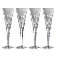 Box of four 'Lunar' 24% lead crystal champagne flutes