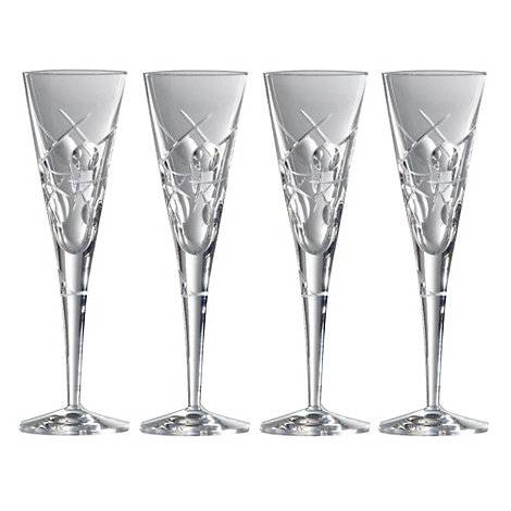 Royal Doulton - Box of four +Lunar+ 24% lead crystal champagne flutes
