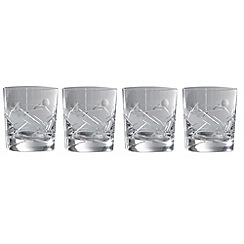Royal Doulton - Box of four 'Lunar' 24% lead crystal tumblers
