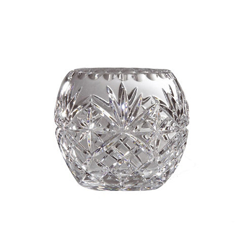 Royal Doulton - 245 lead crystal 'Newbury' ball vase
