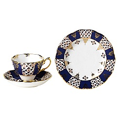 Royal Albert - Blue three piece '100 Years of ' 1900 Regency tea set