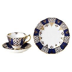 Royal Albert - Blue three piece '100 Years of ' 1900 Regency tea set