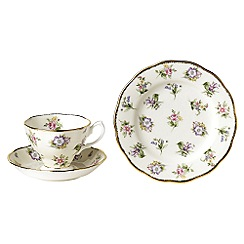 Royal Albert - Lilac three piece '100 Years of ' 1920 Spring Meadow tea set