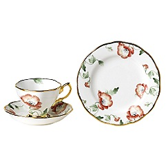Royal Albert - Red three piece '100 Years of ' 1970 Poppy tea set