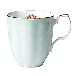 Royal Albert - Pale Green '100 Years of ' 1930 Polka Rose mug