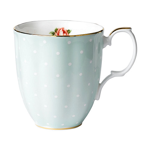 Royal Albert - Pale Green +100 Years of + 1930 Polka Rose mug