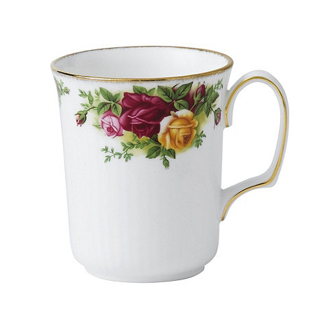 Royal Albert - Red +Old Country Rose+ bristol beaker