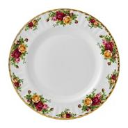 Red 'Old Country Rose' dinner plate