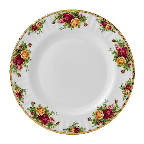 Royal Albert - Red 'Old Country Rose' dinner plate
