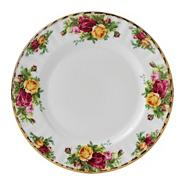 Large red 'Old Country Rose' plate