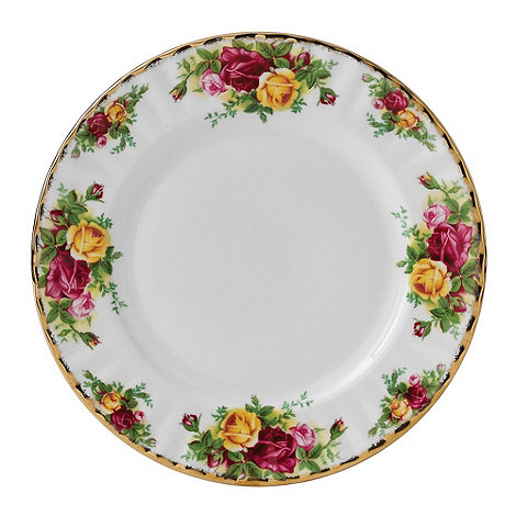 Royal Albert - Large red +Old Country Rose+ plate