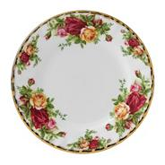 Small red 'Old Country Rose' plate