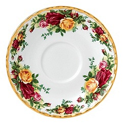 Royal Albert - Red 'Old Country Rose' tea saucer