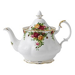 Royal Albert - Red 'Old Country Roses' teapot