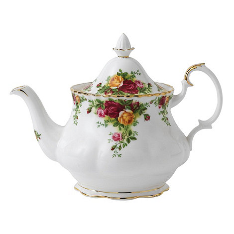 Royal Albert - Red +Old Country Rose+ teapot