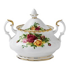 Royal Albert - Red 'Old Country Rose' sugar bowl