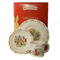Bunnykins By Royal Doulton - Three piece 'Bunnykins' childrens set