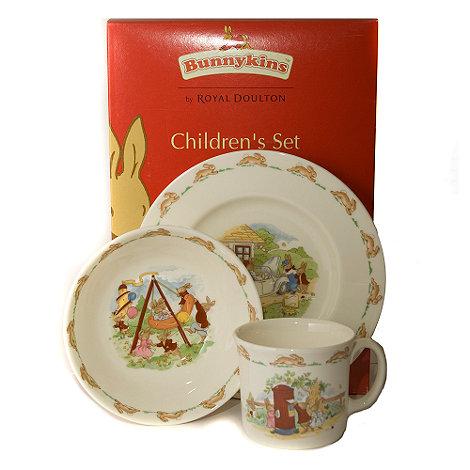 Bunnykins By Royal Doulton - Three piece +Bunnykins+ childrens set