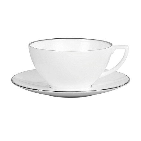 Jasper Conran at Wedgwood - White +Platinum+ small tea saucer