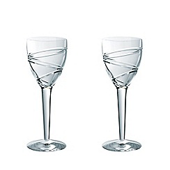 Jasper Conran at Waterford Crystal - Set of two 'Aura' 24% lead crystal goblets