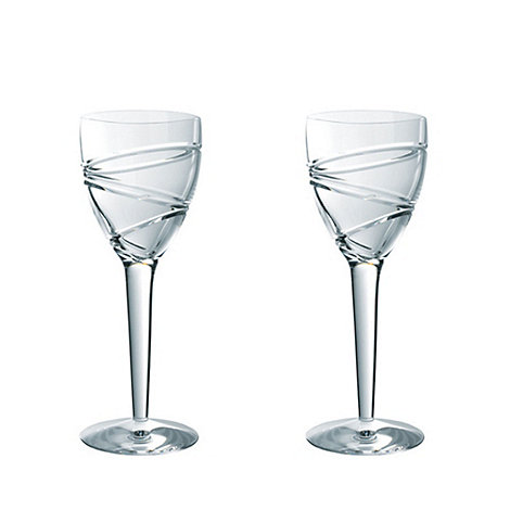 Jasper Conran at Waterford Crystal - Set of two +Aura+ 24% lead crystal goblets