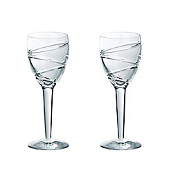 Jasper Conran at Waterford Crystal - Set of two 'Aura' 24% lead crystal wine glasses